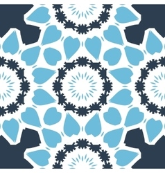 Seamless Print in blue color with stylized vector image