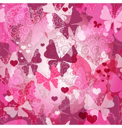 Seamless valentine pattern vector image vector image