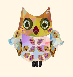 small polygonal owl vector image