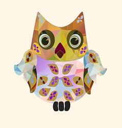 Small polygonal owl vector
