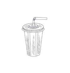 Soda Hand Drawn Sketch vector image vector image