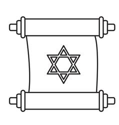 traditional torah icon vector image