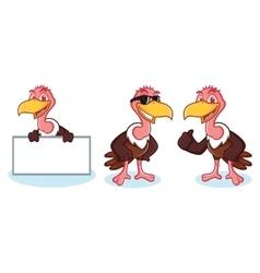 Vulture mascot happy vector