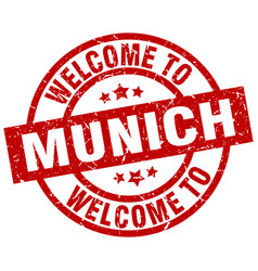 Welcome to munich red stamp vector