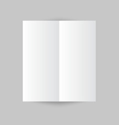 White stationery blank trifold paper brochure on vector image