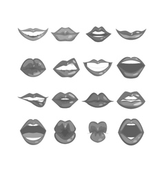Woman lips isolated vector image