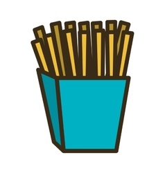 Box with french fries vector
