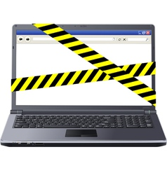 dangerous laptop vector image