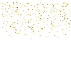 Gold confetti background vector