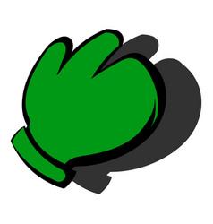 Work glove icon icon cartoon vector