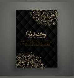 Wedding card design in mandala style vector