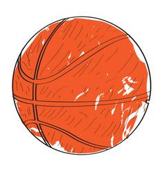 Retro basketball ball vector