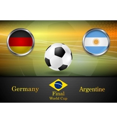 Final football germany and argentina in brazil vector