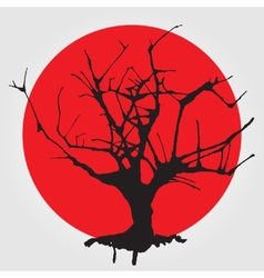 Old tree in Chinese style vector image