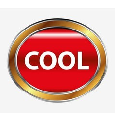 Cool button vector