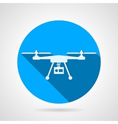 Quadrocopter sign flat icon vector