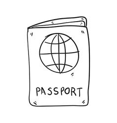 Passport hand drawn vector