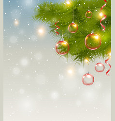 Christmas background with red decorations vector