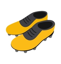 Football soccer shoes isometric 3d icon vector