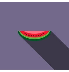 Watermelon slice icon flat style vector