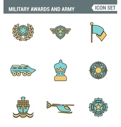 Icons line set premium quality of military awards vector
