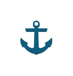 Anchor flat icon travel navigation vector