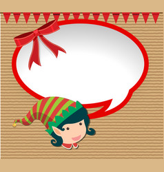 Banner design with elf on christmas vector