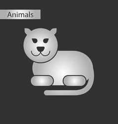 Black and white style icon panther vector