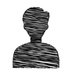 Black icon with scribble effect vector image