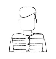 Blurred silhouette faceless man prisoner with vector