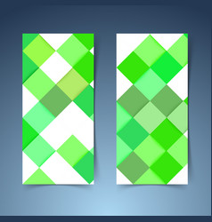 Bright green geometrical modern tile banner vector