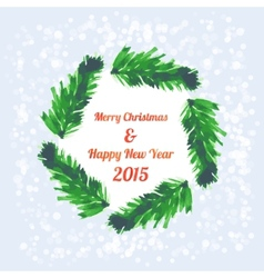 Christmas tree brunches banner vector