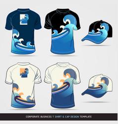 Corporate Identity Business Set T-shirt and cap De vector image vector image