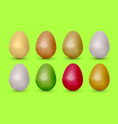 Easter realistic egg vector