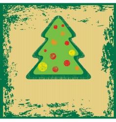 grunge Christmas tree vector image