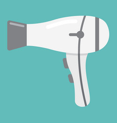 hair dryer flat icon household and appliance vector image