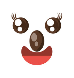 Kawaii face koala animal expression icon vector