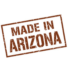 Made in arizona stamp vector