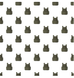 Military backpack pattern vector