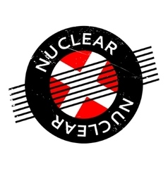 Nuclear rubber stamp vector