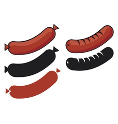 Sausages vector image vector image