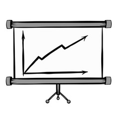 Screen arrow graph board icon cartoon vector