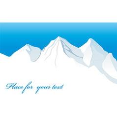 Snowy mountain design vector