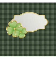 St Patrick's theme with shamrock vector image vector image