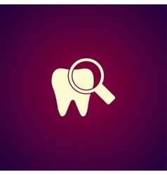 Tooth Icon Flat design style vector image