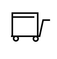trolley icon vector image