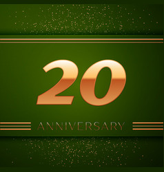 Twenty years anniversary celebration logotype vector