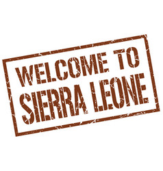 Welcome to sierra leone stamp vector