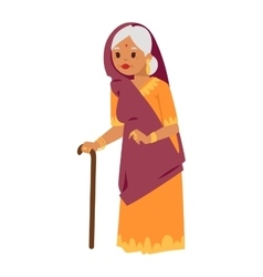 Indian grandma vector