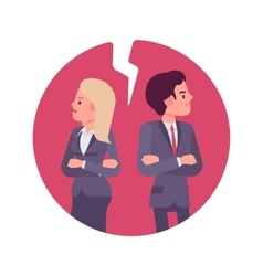 Bad business relationship vector